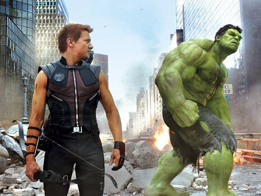 The Avengers_J.Renner&M.Ruffalo as Hawkeye&Hulk