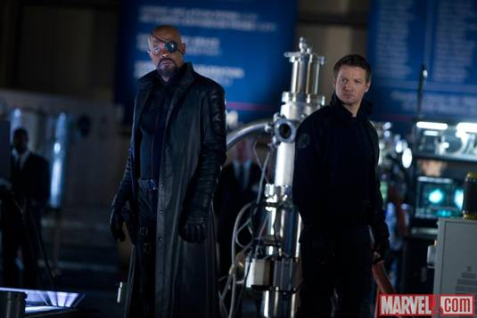 The Avengers_S.L.Jackson&J.Renner as N.Fury&Hawkeye