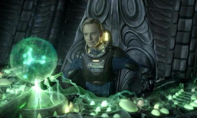 Prometheus, android David (Michael Fassbender)