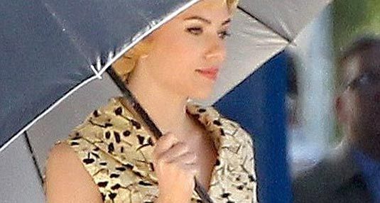 Scarlett Johansson as Janet Leigh set photo