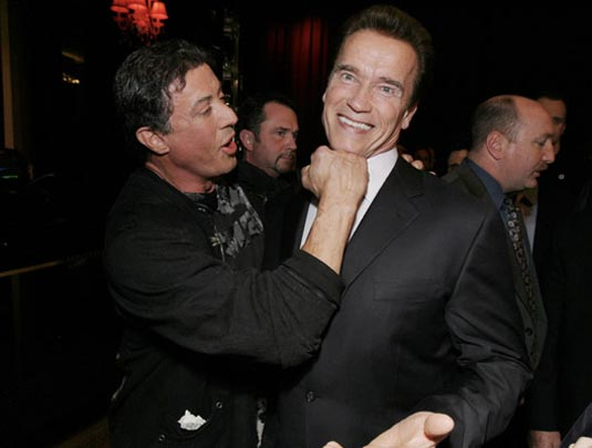 Sylvester Stallone and Arnold Schwarzenegger