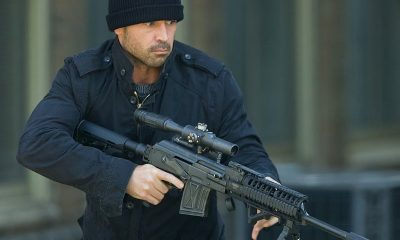 Colin Farrell, Dead Man Down set photo