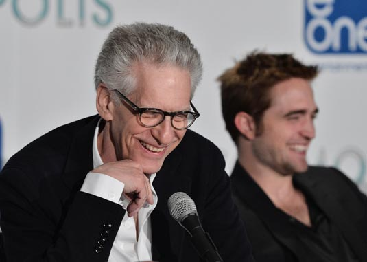 Cronenber and Pattinson at the Cosmopolis press conference