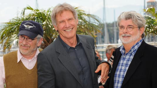 Harrison Ford, Steven Spielberg and George Lucas