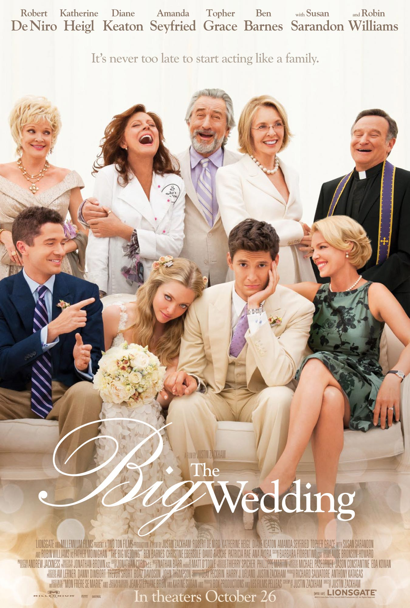THE BIG WEDDING Trailer and Poster - FilmoFilia