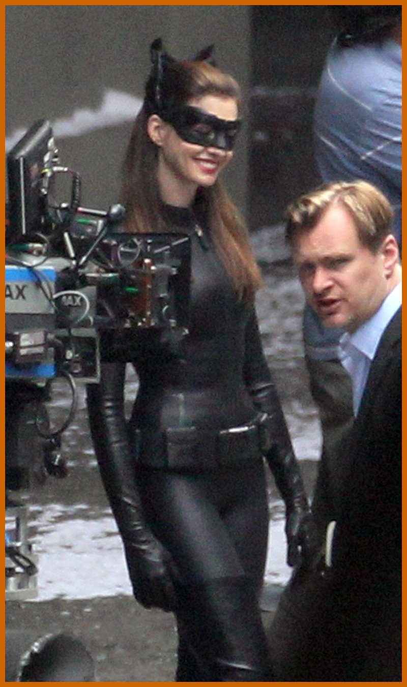 Anne hathaway catwoman costume dark knight rises set