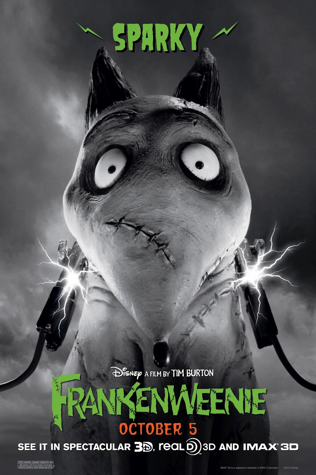 frankenweenie a 3d movie Reel rating: 45 out of 5 reels mpaa rating: pg for thematic elements, scary  images and action released in theaters: oct 5, 2012 (2d, 3d,.