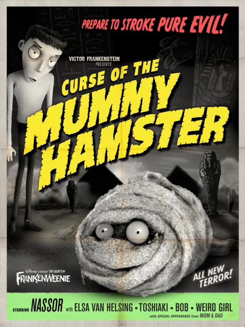 Six Retro Monster Movie Posters For Frankenweenie