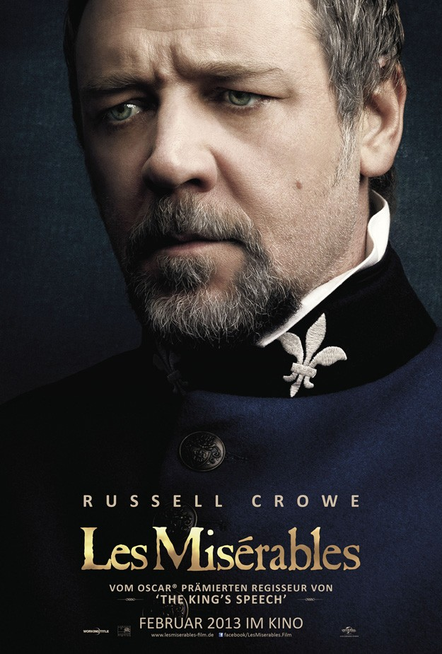 LES MISERABLES Reveals Another Poster With Russell Crowe ...