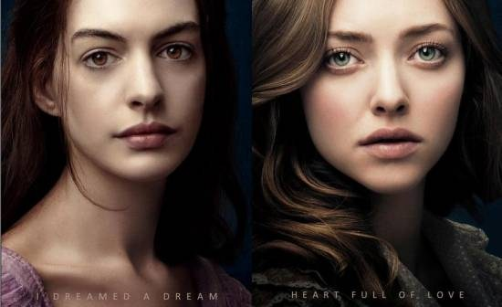 2 New LES MISERABLES Posters With Anne Hathaway Amanda Seyfried