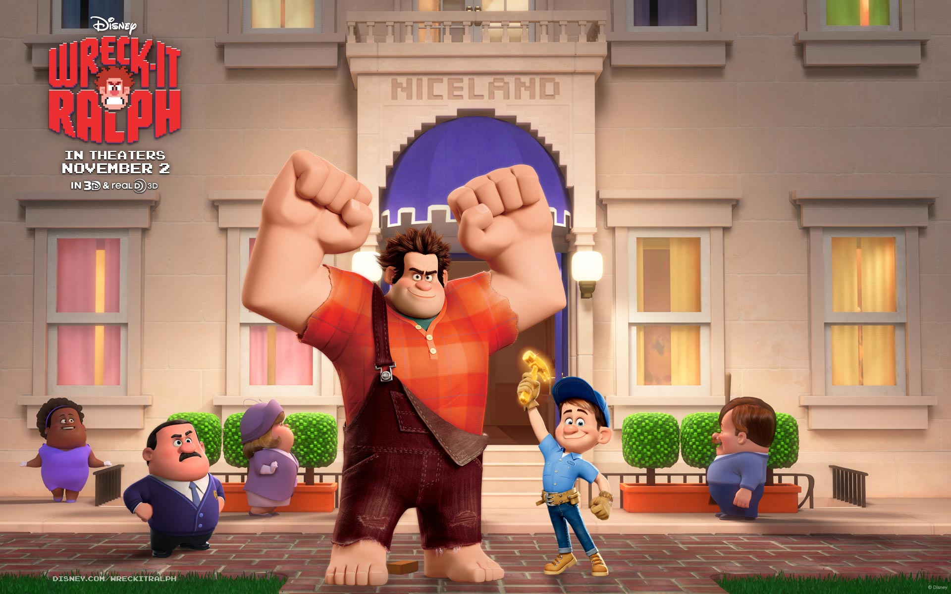 wallpapers of Rich Moore-directed Wreck-It Ralph family movie