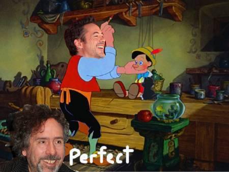 Tim Burton and RDJ - Pinocchio