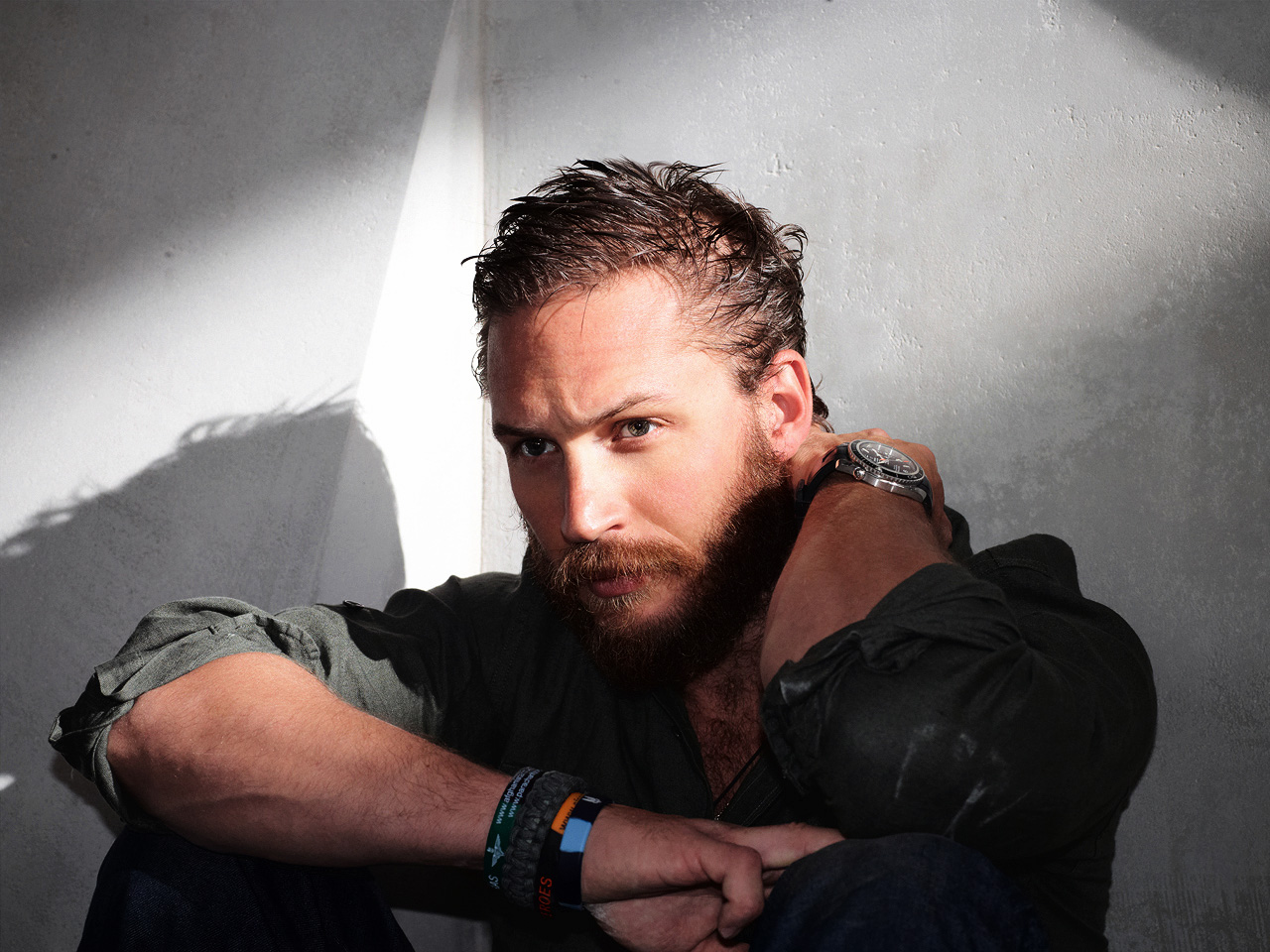 Michael Roskam And Tom Hardy Approach Animal Rescue