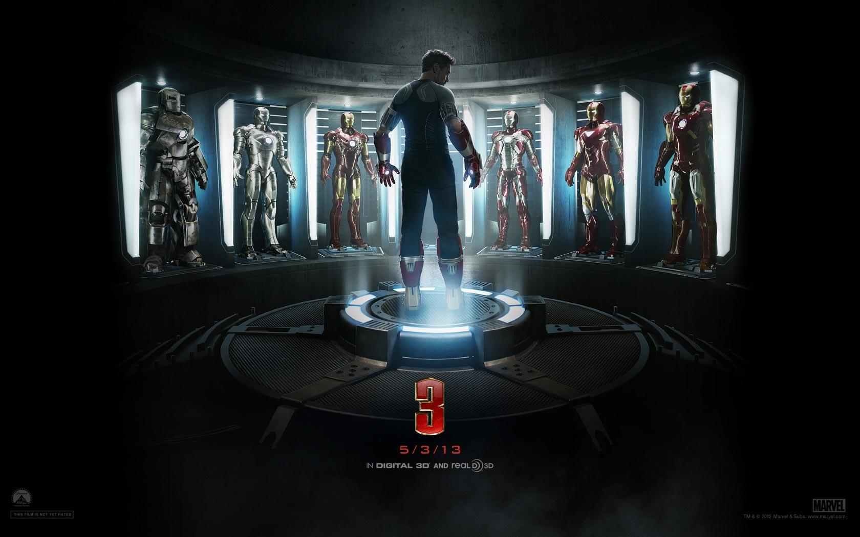 วอลล์เปเปอร์งามๆ 4 แบบจาก IRON MAN 3 (ไอรอนแมน มหาประลัยคนเกราะเหล็ก)