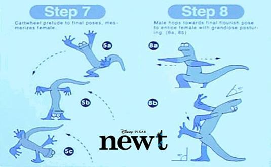 Pixar's Newt Concept Art