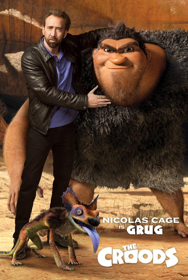 THE CROODS Character Poster: Nicolas Cage Is GRUG!