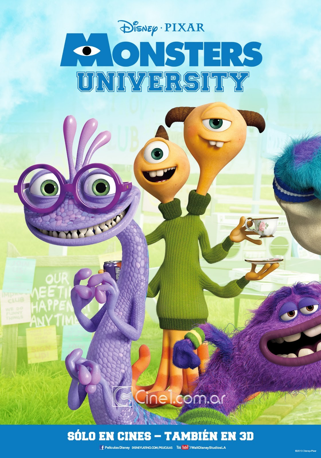 New international posters for monsters university
