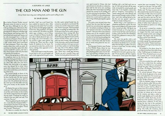 The Old Man and the Gun - NY Article