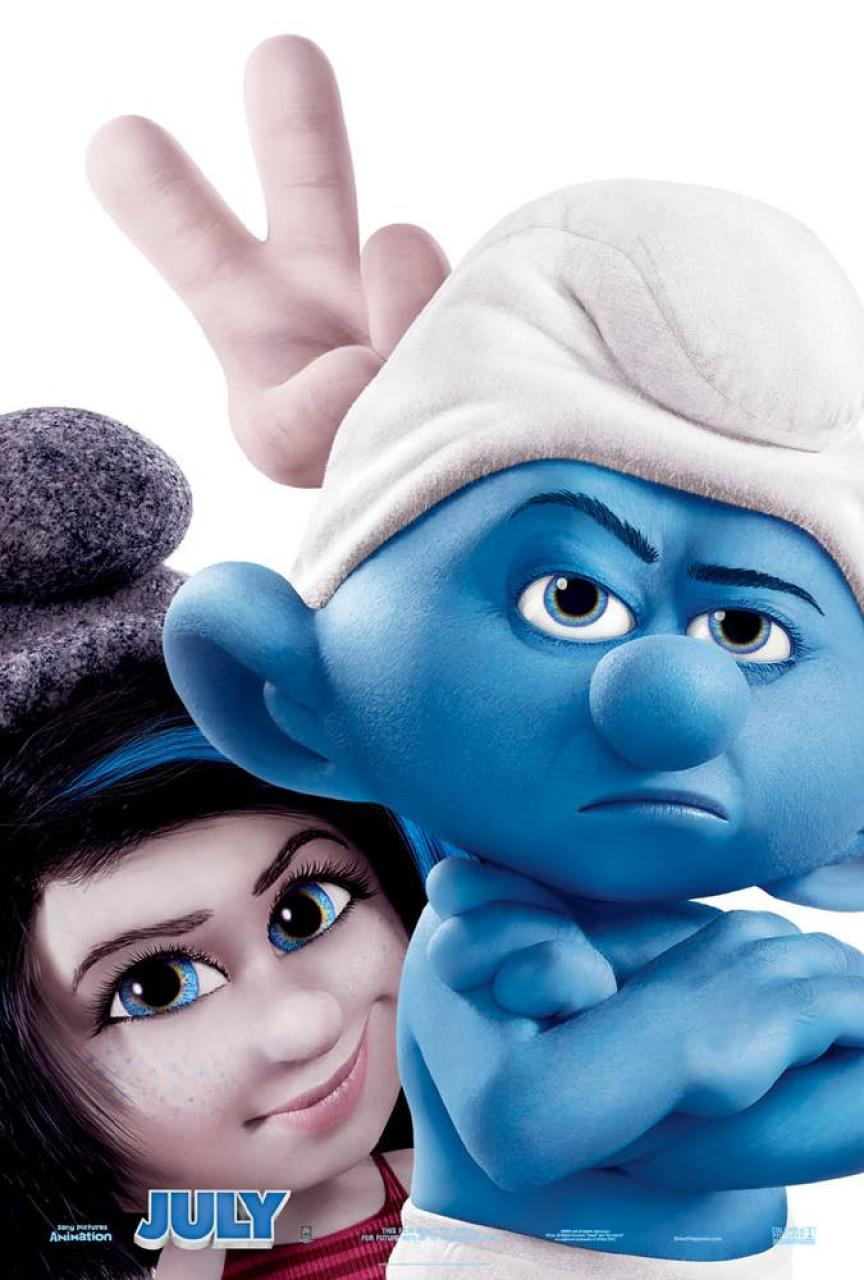 the smurfs 2 new posters grouchy vexy hackus smurfette