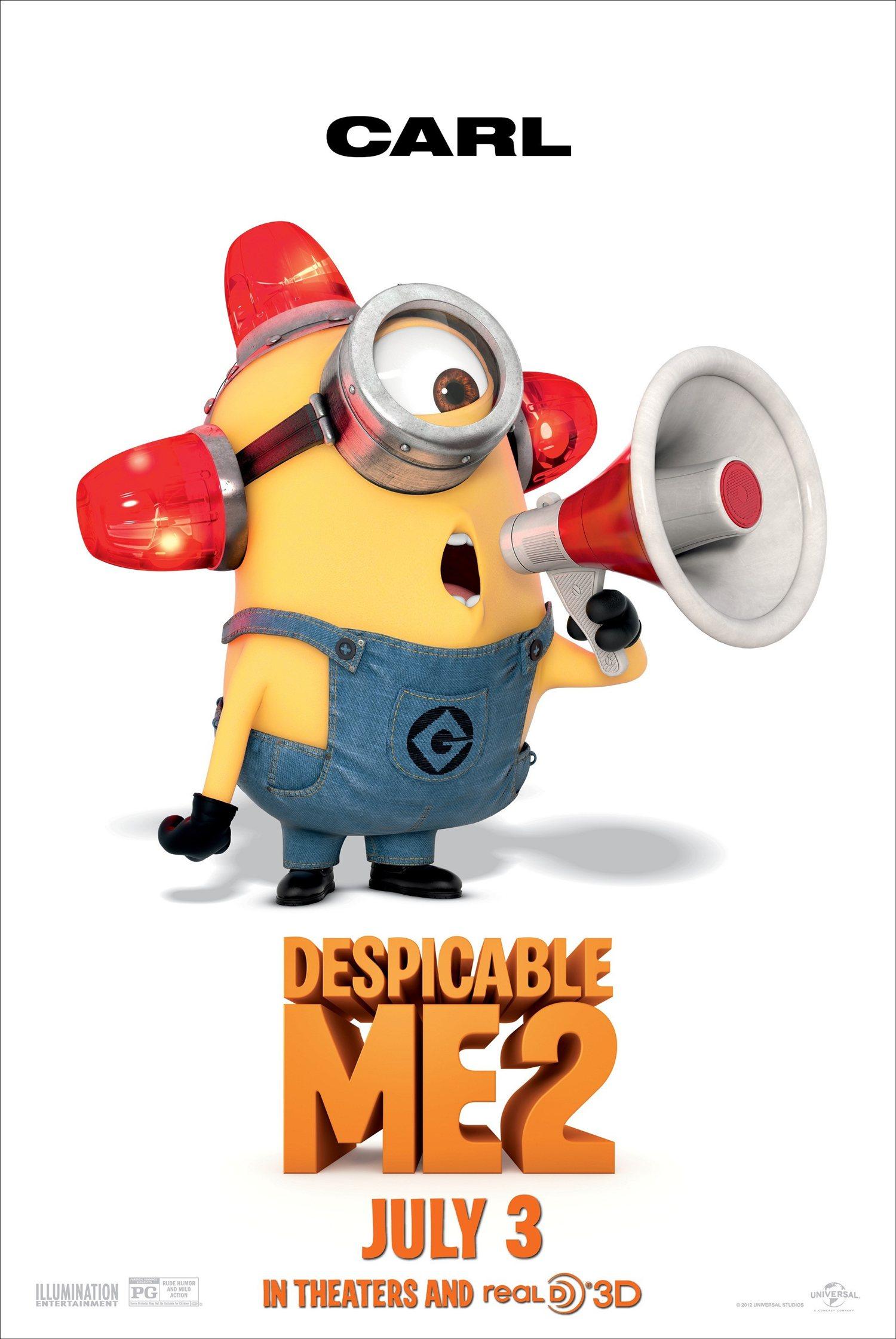 Minion Stuart - Despicable Me 2 Laughing Action Figure Toy