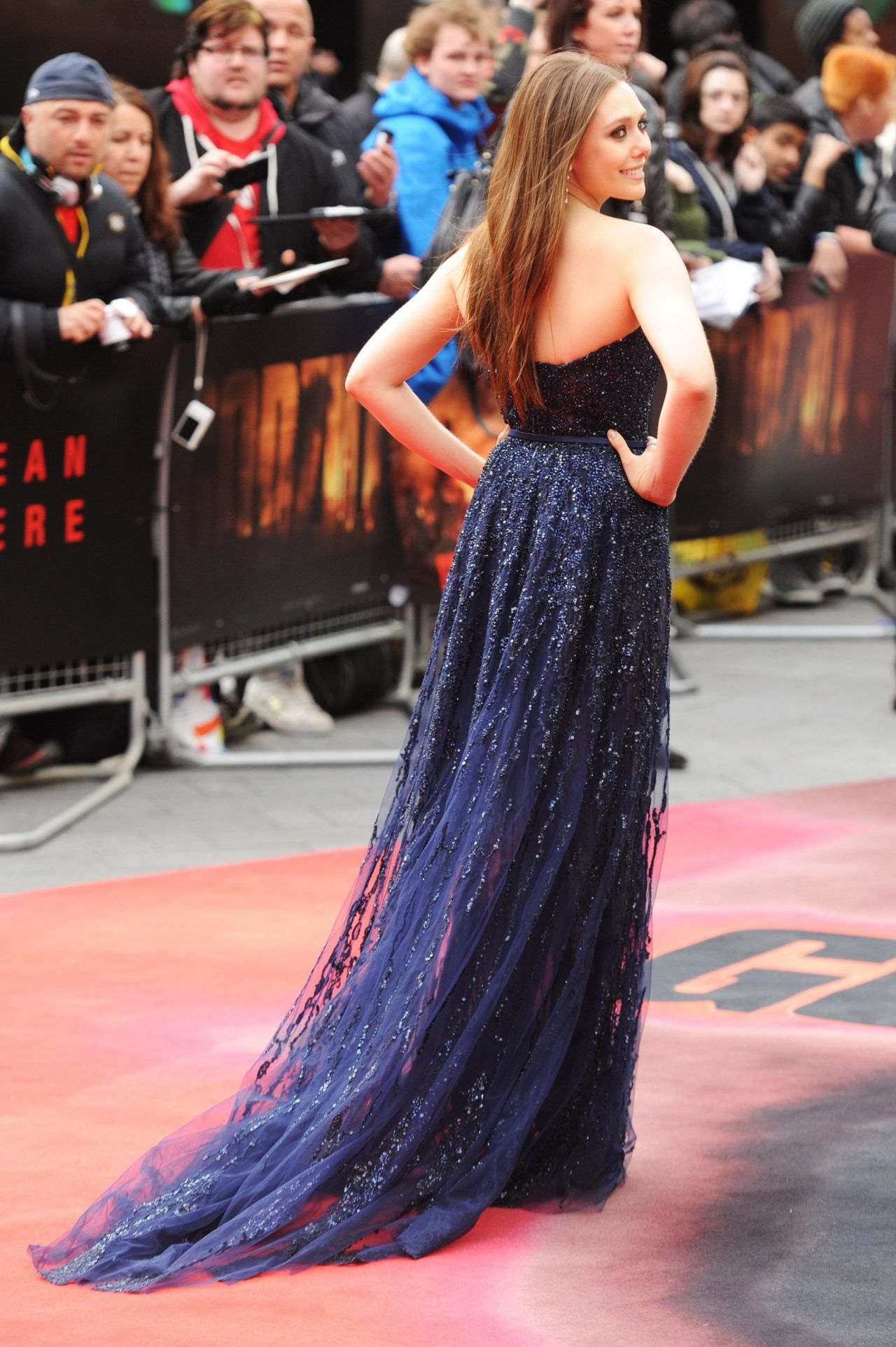 GODZILLA European Premiere in London – Elizabeth Olsen