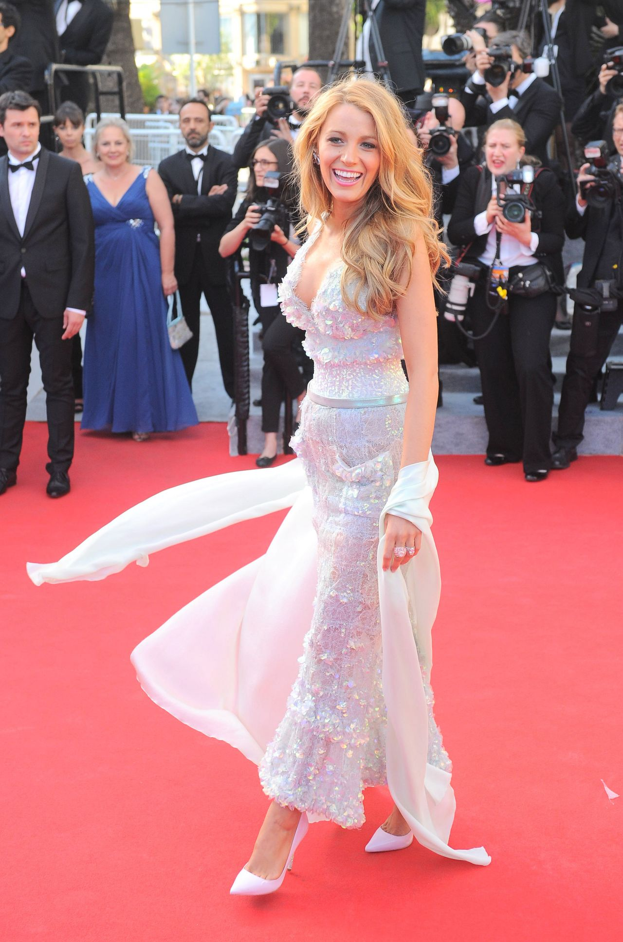 MR. TURNER Premiere at 2014 Cannes Film Festival - Blake Lively on Red Carpet