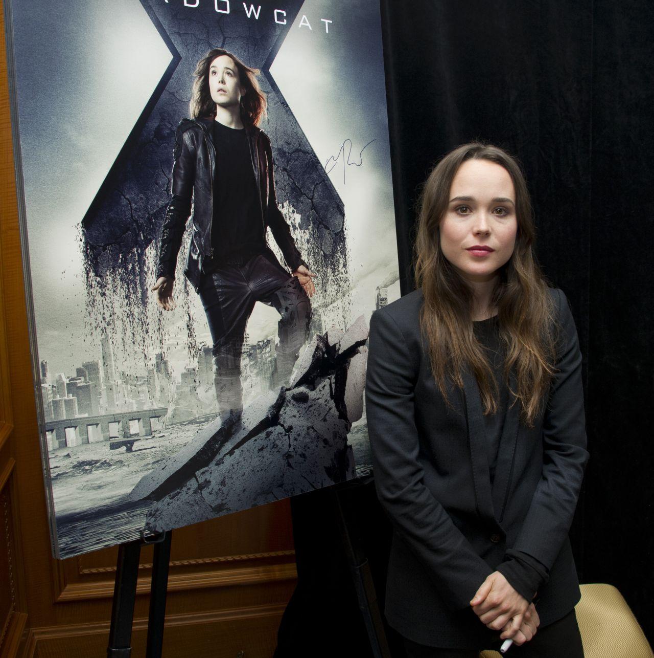 X Men Days Of Future Past Press Conference Ellen Page Filmofilia