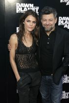 DAWN OF THE PLANET OF THE APES Premiere in New York City - Keri Russell and Andy Serkis