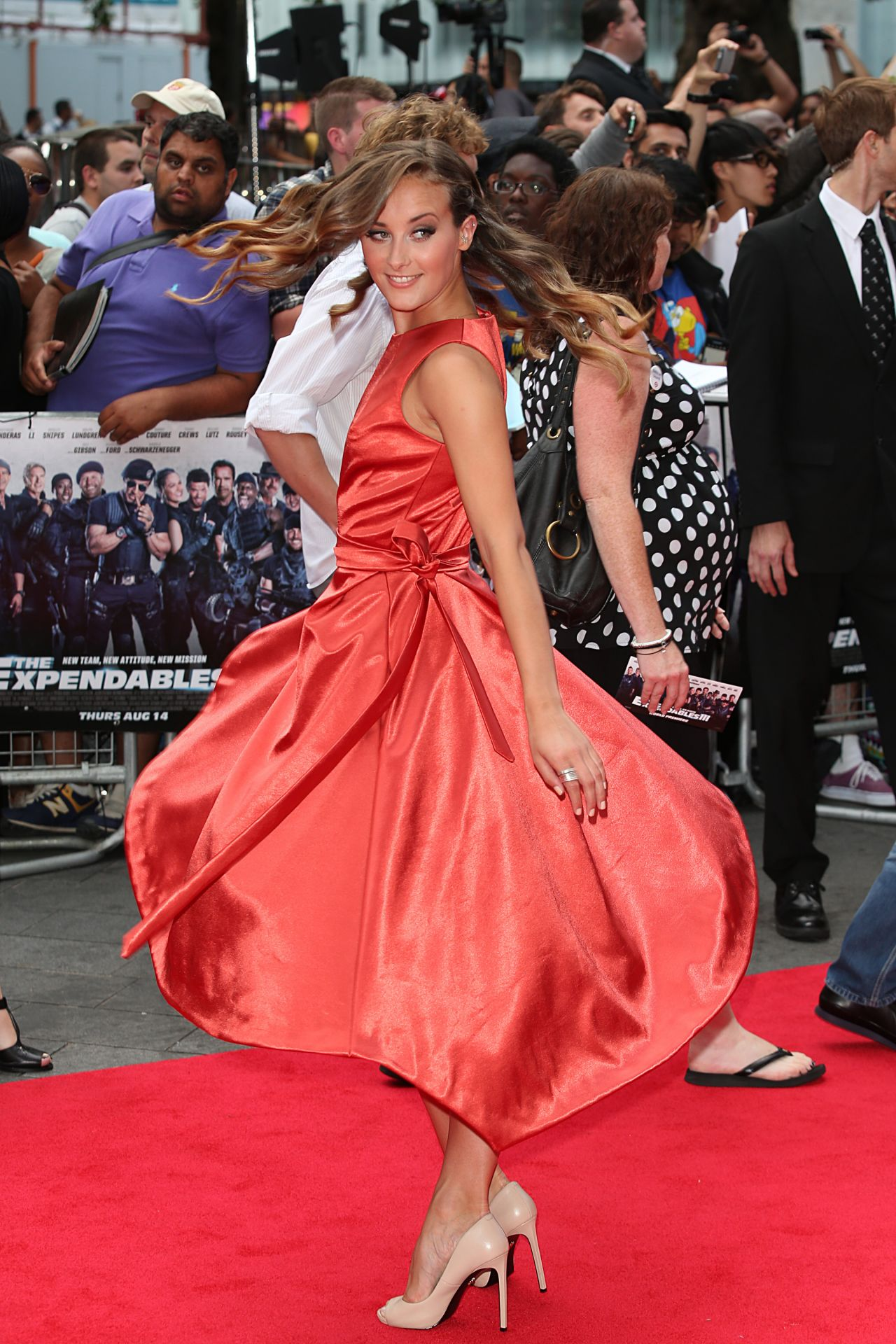 THE EXPENDABLES 3 World Premiere in London - April Pearson