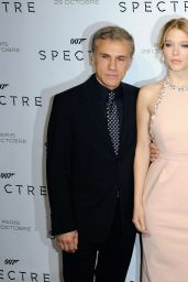 SPECTRE Premiere at Grand Rex Cinema in Paris - Léa Seydoux, Monica Bellucci, DAniel Craig, Christoph Waltz