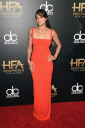 19th Annual Hollywood Film Awards in Beverly Hills Red Carpet – Michelle Rodriguez