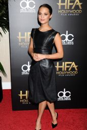 Alicia Vikander on Red Carpet - 19th Annual Hollywood Film Awards in Beverly Hills
