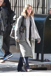 Emily Blunt on the Set of GIRL ON THE TRAIN in New York City