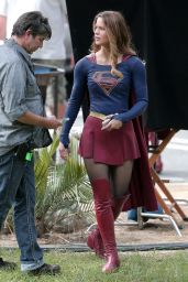 SUPERGIRL Set Photos in Los Angeles - Melissa Benoist
