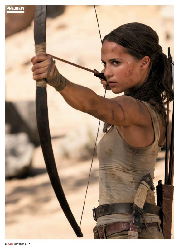 TOMB RAIDER New Photo - Alicia Vikander As Lara